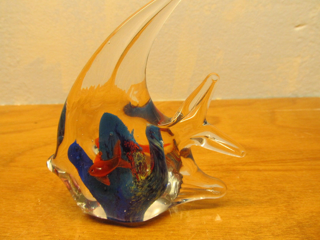 GLASS FISH PAPERWEIGHT - Andres James Vintage Boutique