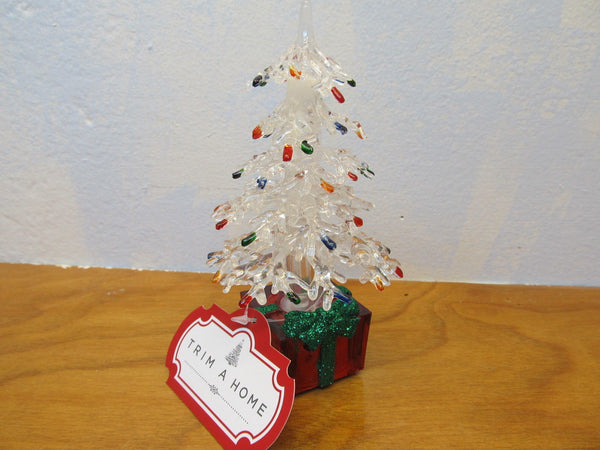 small plastic light up Christmas tree - Andres James Vintage Boutique - 1