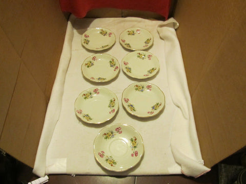 vintage set of seven amerex china desert plates made in Occupied Japan - Andres James Vintage Boutique - 1