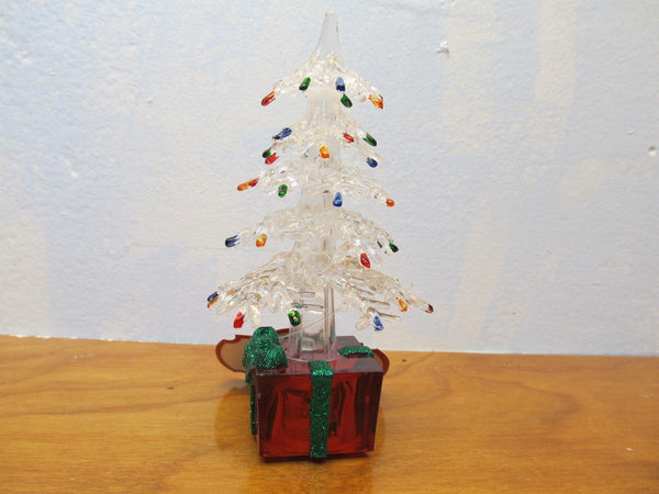 small plastic light up Christmas tree - Andres James Vintage Boutique - 2