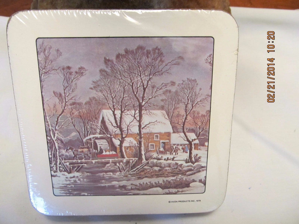 STILL IN THE PACKAGE VINTAGE AVON COASTERS - Andres James Vintage Boutique - 1