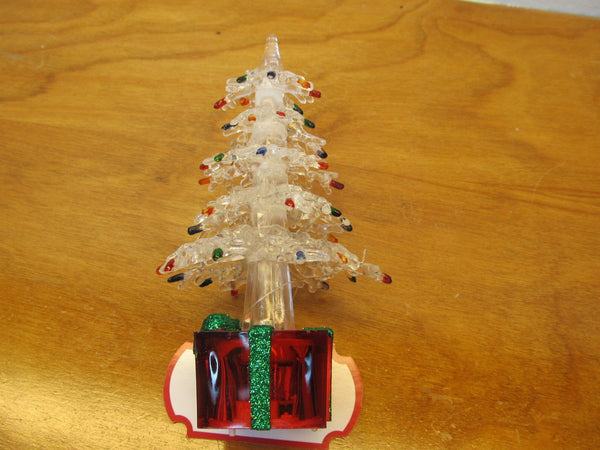 small plastic light up Christmas tree - Andres James Vintage Boutique - 4