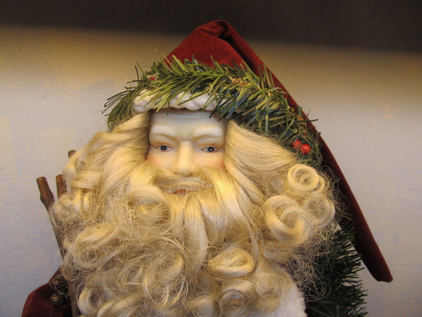 EXTRA LARGE SANTA TREE TOPPER OR FIGURINE - Andres James Vintage Boutique