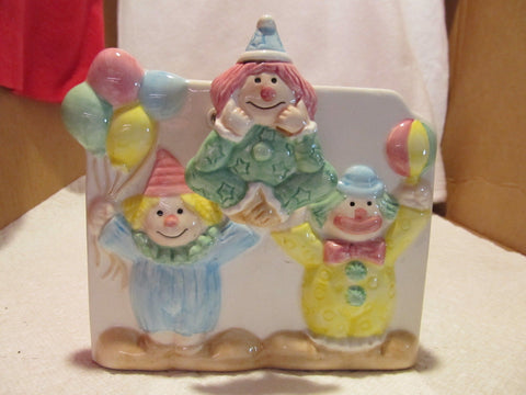 VINTAGE NAPCOWARE CLOWN PLANTER PLAYS MUSIC - Andres James Vintage Boutique - 1