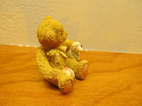 1992 ENESCO BEAR FIGURINE CHELSEA # E7301 - Andres James Vintage Boutique