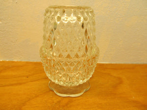 VINTAGE CLEAR GLASS CANDLE HOLDER - Andres James Vintage Boutique - 1
