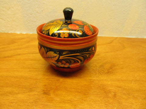 VINTAGE HAND PAINTED TRINKET BOX FROM RUSSIA - Andres James Vintage Boutique - 1