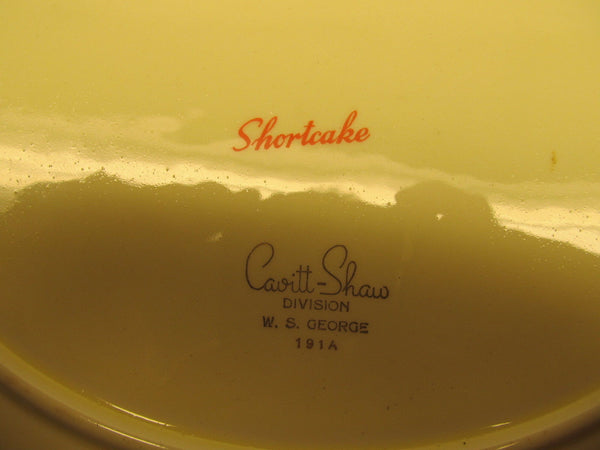 yellow strawberrie serving dish # 191-A Cavit and Shaw division of W.S. George - Andres James Vintage Boutique - 3