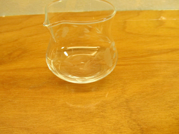 VINTAGE CONDIMENT POTS WITH ETCHED WHEAT DESIGN - Andres James Vintage Boutique - 5