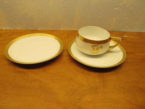 ROSENTHAL CHINA TWO (2) SMALL SAUCERS AND ONE (1) CUP MADE IN BAVARIA DONA TELLO - Andres James Vintage Boutique