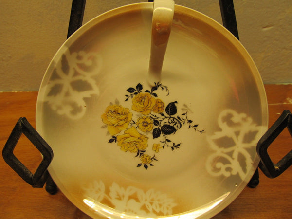 vintage small serving plate with handle # 27 Bremont Bavaria - Andres James Vintage Boutique - 1