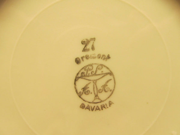 vintage small serving plate with handle # 27 Bremont Bavaria - Andres James Vintage Boutique - 3