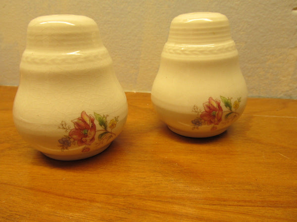 DECORATIVE VINTAGE SALT AND PEPPER SHAKERS WITH CORK PLUGS - Andres James Vintage Boutique