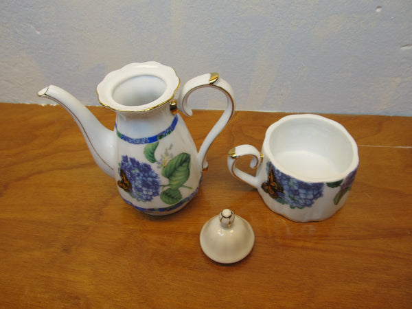 VINTAGE PORCELAIN TEA POT AND CUP - Andres James Vintage Boutique - 2