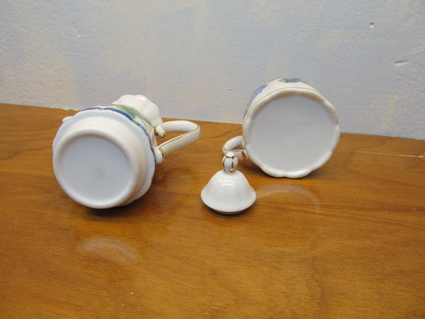 VINTAGE PORCELAIN TEA POT AND CUP - Andres James Vintage Boutique - 3