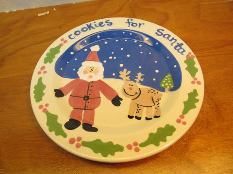 COOKIES FOR SANTA HOLIDAY SERVING PLATE - Andres James Vintage Boutique