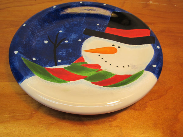 MADE IN CHINA BY SAKURA SNOWY DAY HOLIDAY PLATE - Andres James Vintage Boutique