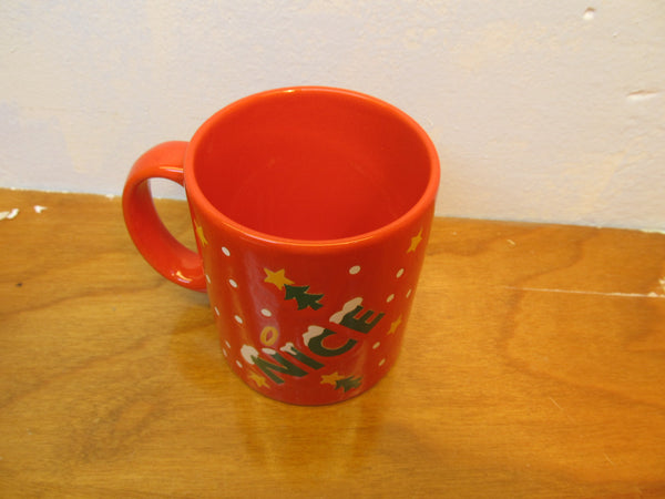 NAUGHTY OR NICE HOLIDAY MUG BY WAECHTERSBACH OF W. GERMANY - Andres James Vintage Boutique