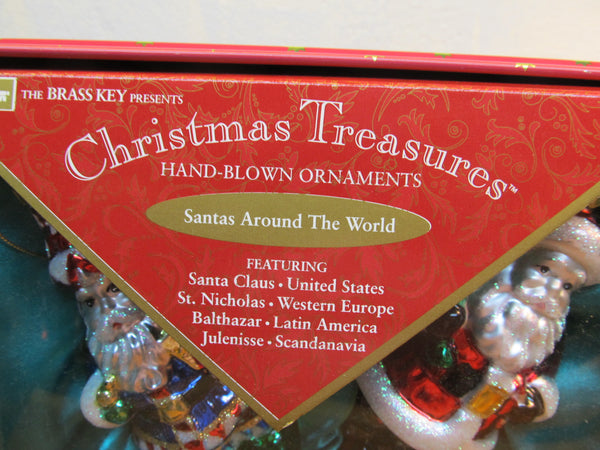 HAND BLOWN MERCURY GLASS ORNAMENT SANTA AROUND THE WORLD #98083-4009 - Andres James Vintage Boutique