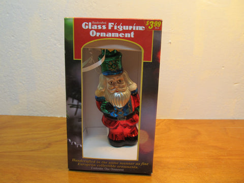 MERCURY GLASS SANTA STILL IN THE ORIGINAL BOX # H 897355 - Andres James Vintage Boutique