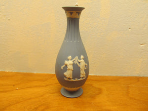 Beautiful Vintage Blue Wedgewood Bud Vase - Andres James Vintage Boutique