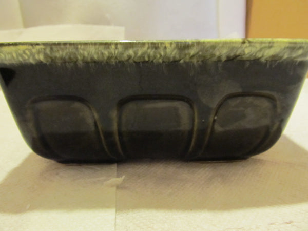 VINTAGE DECORATIVE HULL PLANTER GREEN COLOR WITH F 469 - Andres James Vintage Boutique - 3