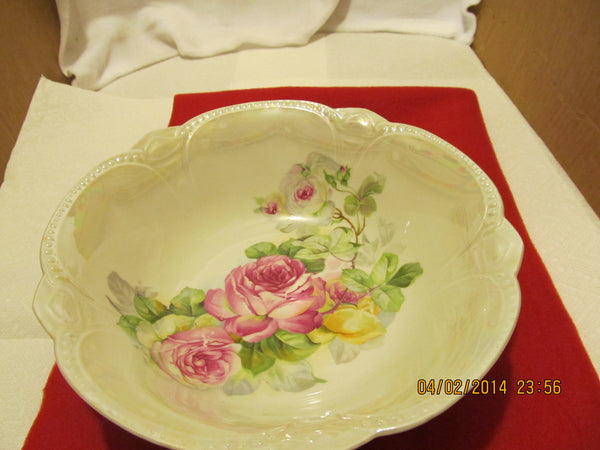 VINTAGE FLORAL DESIGN SERVING BOWL MADE IN BAVARIA - Andres James Vintage Boutique - 2
