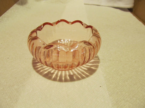 VINTAGE PINK DEPRESSION GLASS FLOWER HEAD BOWL - Andres James Vintage Boutique - 1