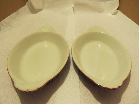 VINTAGE HULL CASSEROLE SET BOTH # 529 MADE IN THE USA - Andres James Vintage Boutique - 1