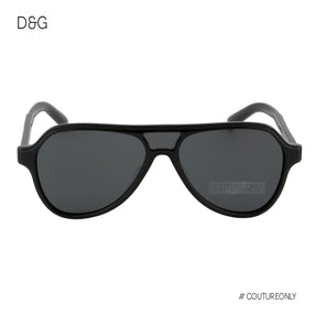Dolce & Gabbana DG-4355-501-87 Aviator Black Men Sunglasses Non-Polarized