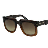 Tom Ford Women Christian FT-0729-48F Sunglasses Dark Brown Square Gradient Lens 3N