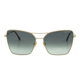 Tom Ford Women Sye FT-0738-28B Sunglasses Gold Butterfly Gray Gradient Lens 2N