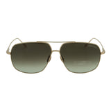 Tom Ford Men John-02 FT-0746-28K Sunglasses Gold Titanium Square-Aviator Brown Gradient Lens 3N