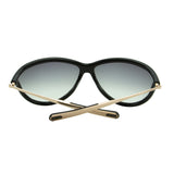 Tom Ford Women Tammy FT-0770-01B Sunglasses Black Cat Eye Gray Gradient Shield 2N