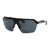 Tom Ford Women Razor FT-0797-01A Sunglasses Black Semi-Rim Shield / Wrap Gray Smoke Lens 3N
