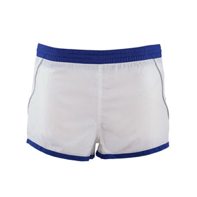 Just Cavalli  White & Blue Trim Lightweight Short Swim Trunks