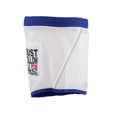 Just Cavalli White Blue Trim Short Swim Trunks