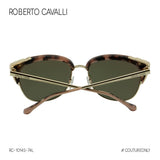 Roberto Cavalli Wezn RC-1014S-74L Women Pink / Gold Cat Eye Sunglasses Mirrored Non-Polarized