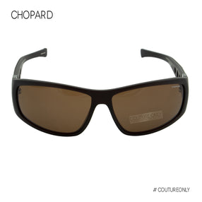 Chopard Mille Miglia SCH-194-Z55P Men Black Brown Racing Polarized Sunglasses