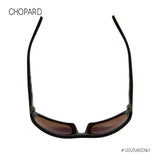 Chopard Mille Miglia SCH-194-Z55P Men Black Brown Leather Racing Polarized Sunglasses