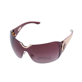 Chopard SCH 883 8FC Women Rimless Shield Purple  & 23 KT Gold Plated Sunglasses