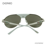 Chopard UAE National Day Limited Edition SCH-A25-0579 Aviator Sunglasses White 23K GP Pilot Mirrored Non-Polarized 60mm