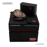 Chopard LIMITED EDITION Mille Miglia Superfast Men SCH B81V 300P Men Black & Gold Aviator Folding Sunglasses Polarized