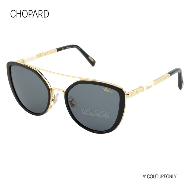 Chopard Ice Cube SCH C23 300F Women Black & Rose Gold Metal Cat Eye Sunglasses
