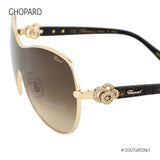 Happy Diamonds SCH C25S 0300 Women Brown & Rose Gold Metal Crystal Shield Sunglasses