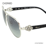 Happy Diamonds SCH C26S 0579 Women Gradient Gray & Silver Metal Crystals Aviator Sunglasses