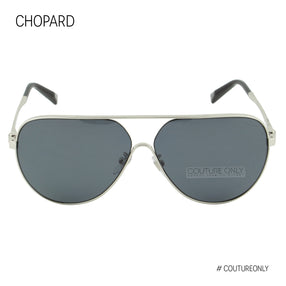Chopard Superfast SCH C30 579Z Men Aviator Sunglasses Silver & Gray Polarized Pilot  63mm