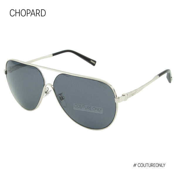 Superfast SCH C30 579Z Men Silver Metal & Gray Flash Smoked Polarized Pilot Sunglasses 63mm