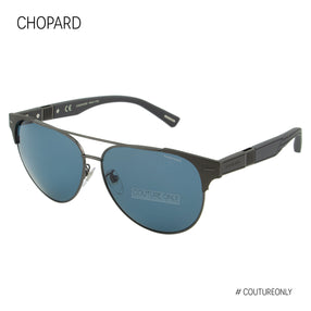 Chopard Mille Miglia SCH C32 584Z Aviator Men Sunglasses Black & Blue Polarized  60mm