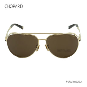 Chopard SCH-C33M-0A60 Aviator Men Sunglasses Gold Titanium / Brown Non-Polarized Lens